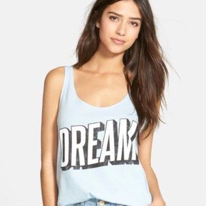 Wildfox Light Blue DREAM Oversized Tank Top